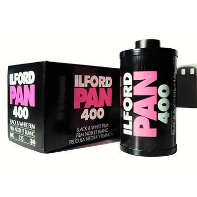 ILFORD Pan 400 (formato 135): 5 rulli