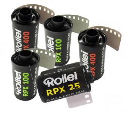 ROLLEI RPX  (formato 135): 5 rulli