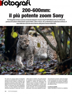 In prova il più potente zoom Sony: 200-600mm. Articolo gratuito