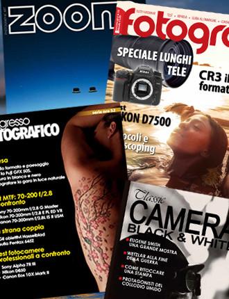 Abbonamento: Progresso Fotografico, Tutti Fotografi, Zoom e Classic Camera