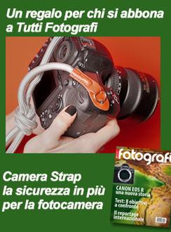 Tutti Fotografi, abbonamento con in regalo Camera Neck Strap