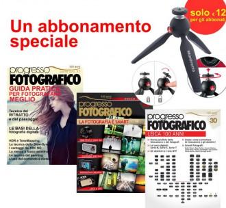 Progresso Fotografico, abbonamento + Manfrotto Pixi